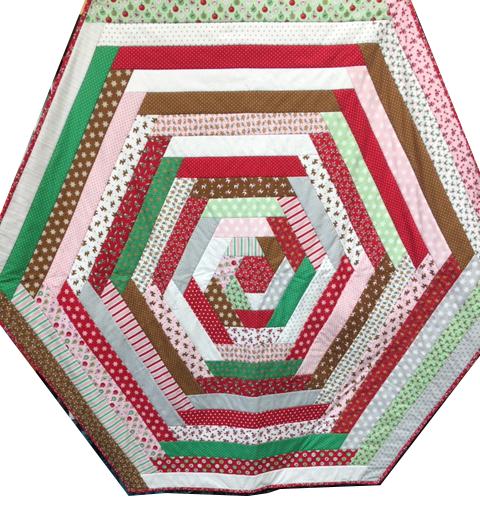 Table Topper / Tree Skirt for Sale featuring Moda Sugar Plum Christmas fabrics