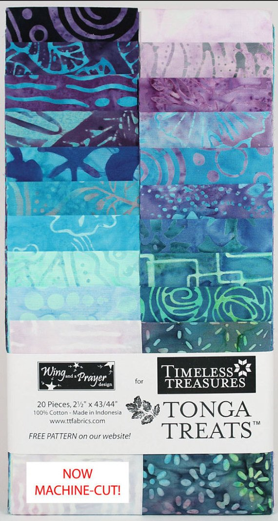 Taffy Tonga Treats Batiks - Mystical Strips by Timeless Treasures - 20 - 2 1/2 strips