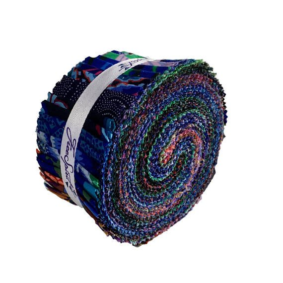 Kaffe Fassett - 40pc Design Roll - Dark - 2 1/2 strips
