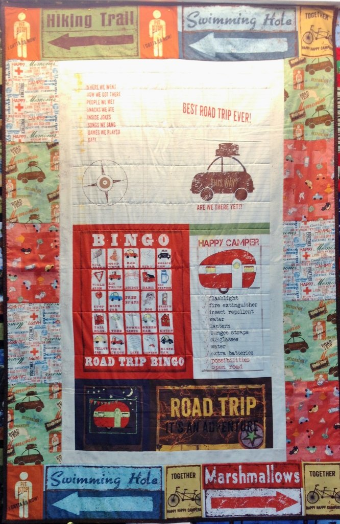 Road Trip PANEL Quilt Kit - Fun for Travel/ Camp / Vacations