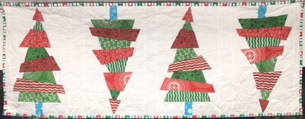 Crazy Christmas Trees Table Runner Kit - Red