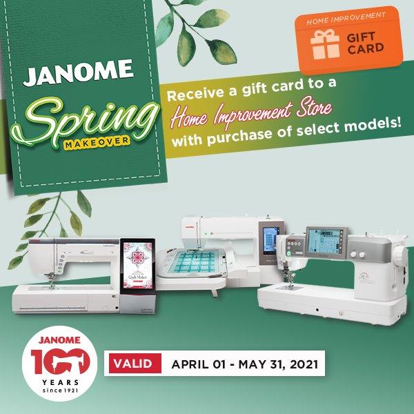 Janome Spring Makeover Home Depot