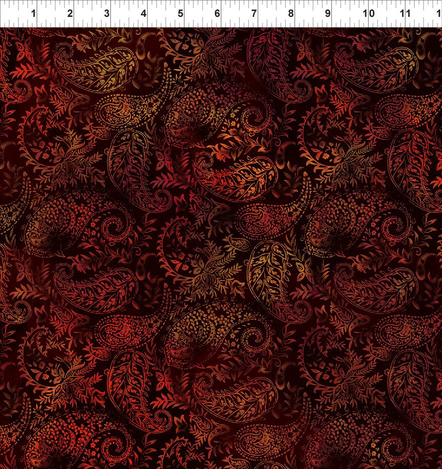 SEASONS 1SEA1 PAISLEY - SPICE by In The Beginning Fabrics