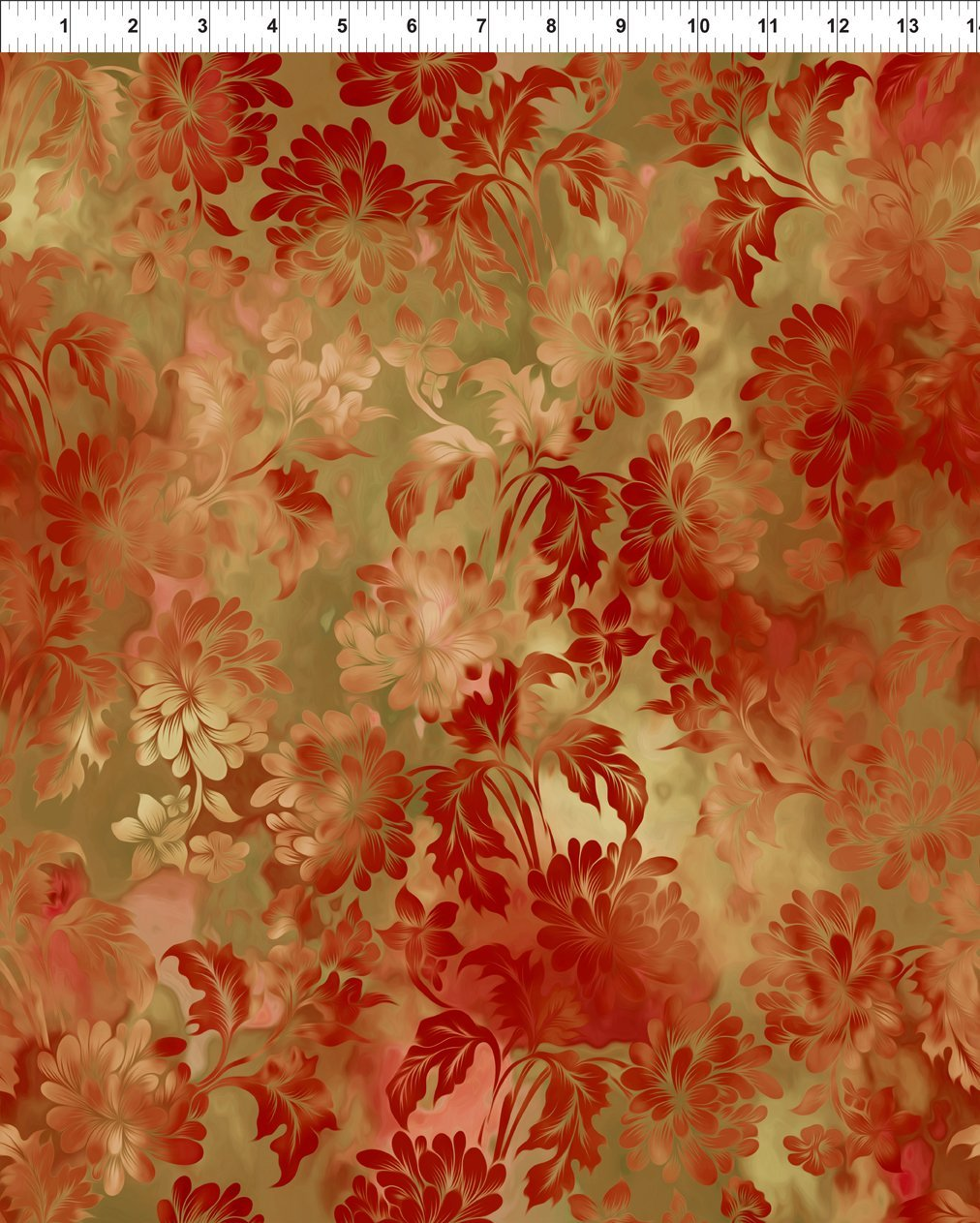 DIAPHANOUS 2ENC1 DAYDREAM - SPICE by In The Beginning Fabrics