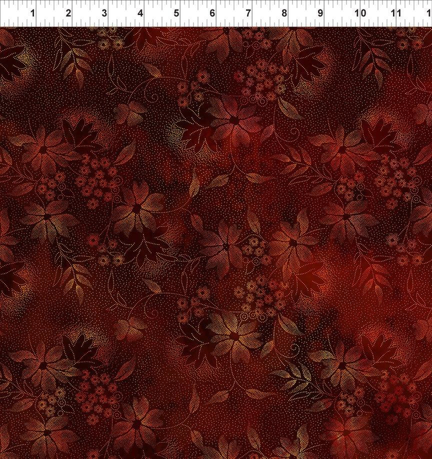 SEASONS 2SEA1 NIGHT FLOWERS - SPICE by In The Beginning Fabrics