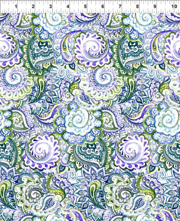 In The Beginning Fabrics - Leah Collection 3TLC1 Paisley Digital Print