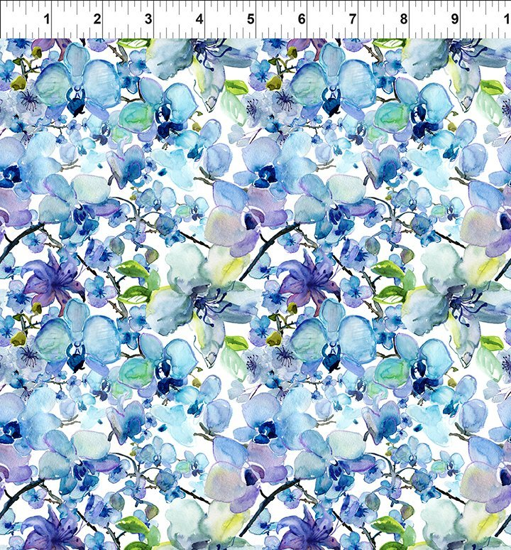 In The Beginning Fabrics - Leah Collection 5TLC1 Allover Floral - Digital Print