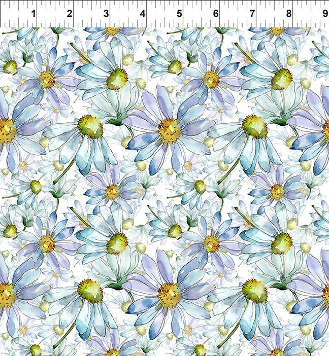 In The Beginning Fabrics - Leah Collection 6TLC1 Daisies Daisy Digital Print