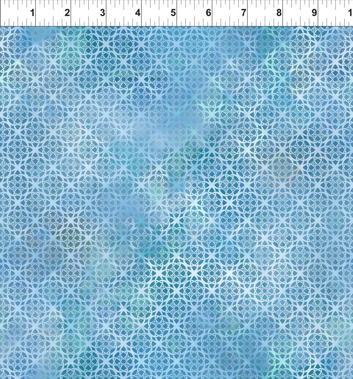 DIAPHANOUS 7ENC2 TRELLIS - SKY by In The Beginning Fabrics