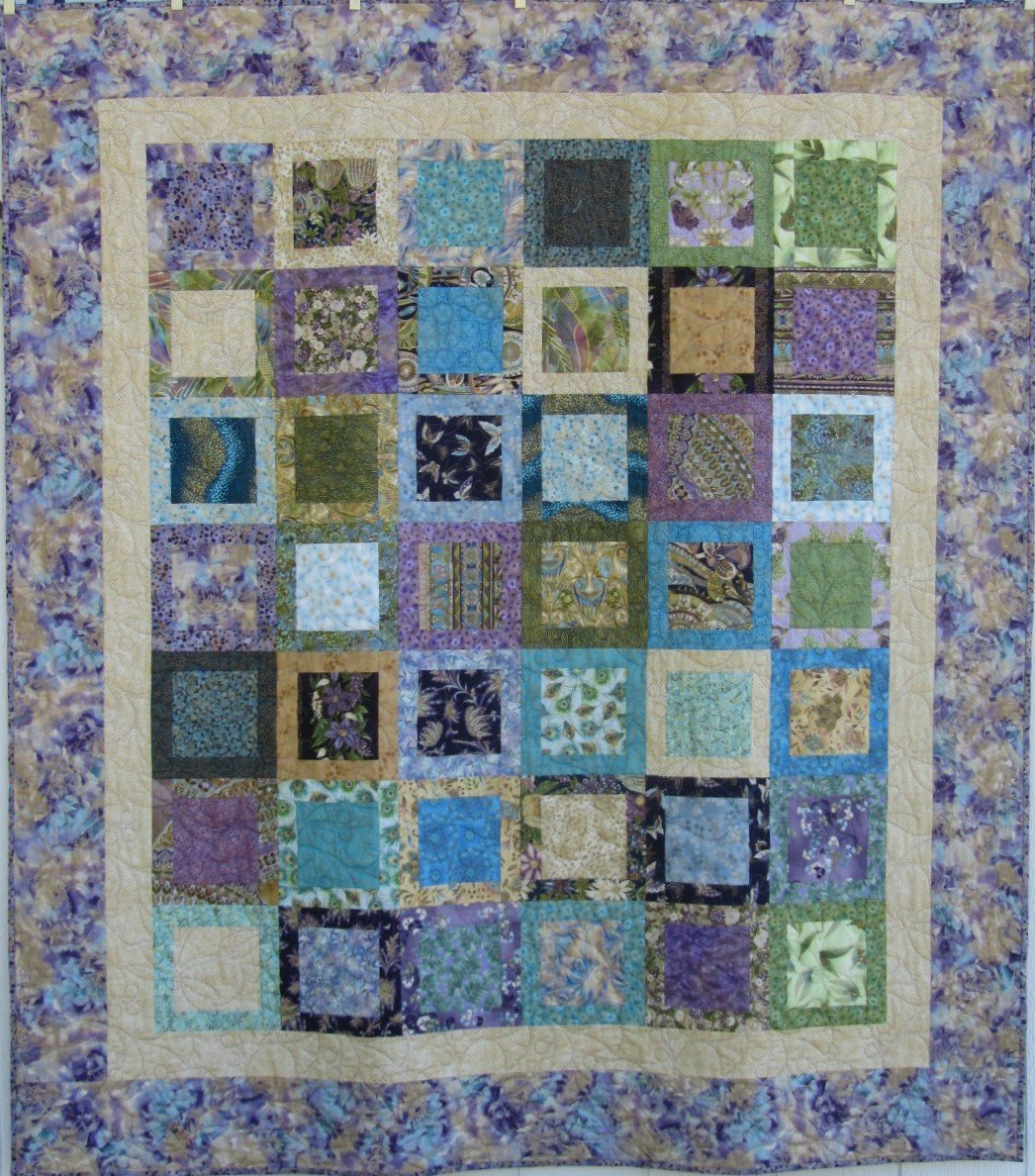 Quilt for Sale:  I've Been Framed 64 x 70