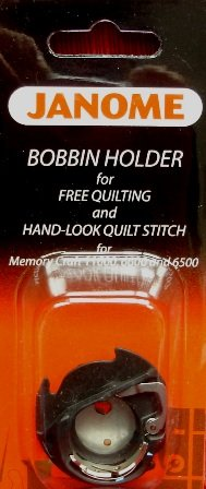 Janome Low-Tension Bobbin Holder 200445007 for Free Motion Quilting for Memory Craft Models