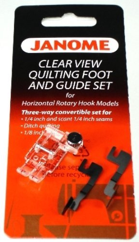 Janome Clearview Quilting Foot and Set Guide for 7mm Horizontal Rotary Hook Models 200449001
