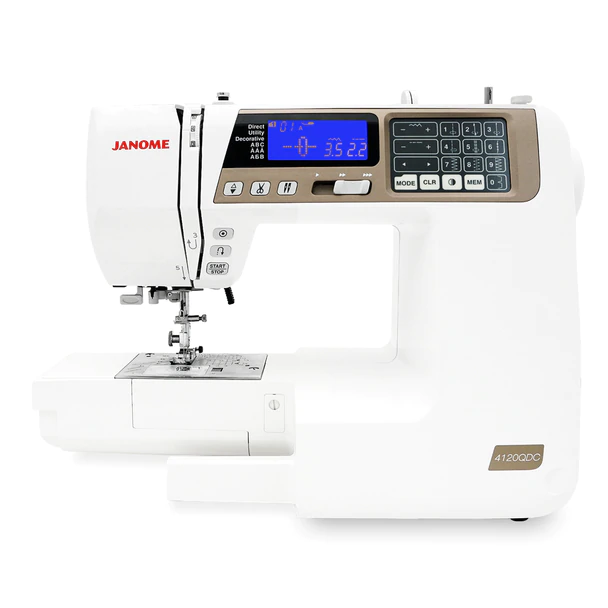 Janome 4120 QDC-T GOLD Computerized Sewing/Quilting Machine with BONUS Quilting Kit