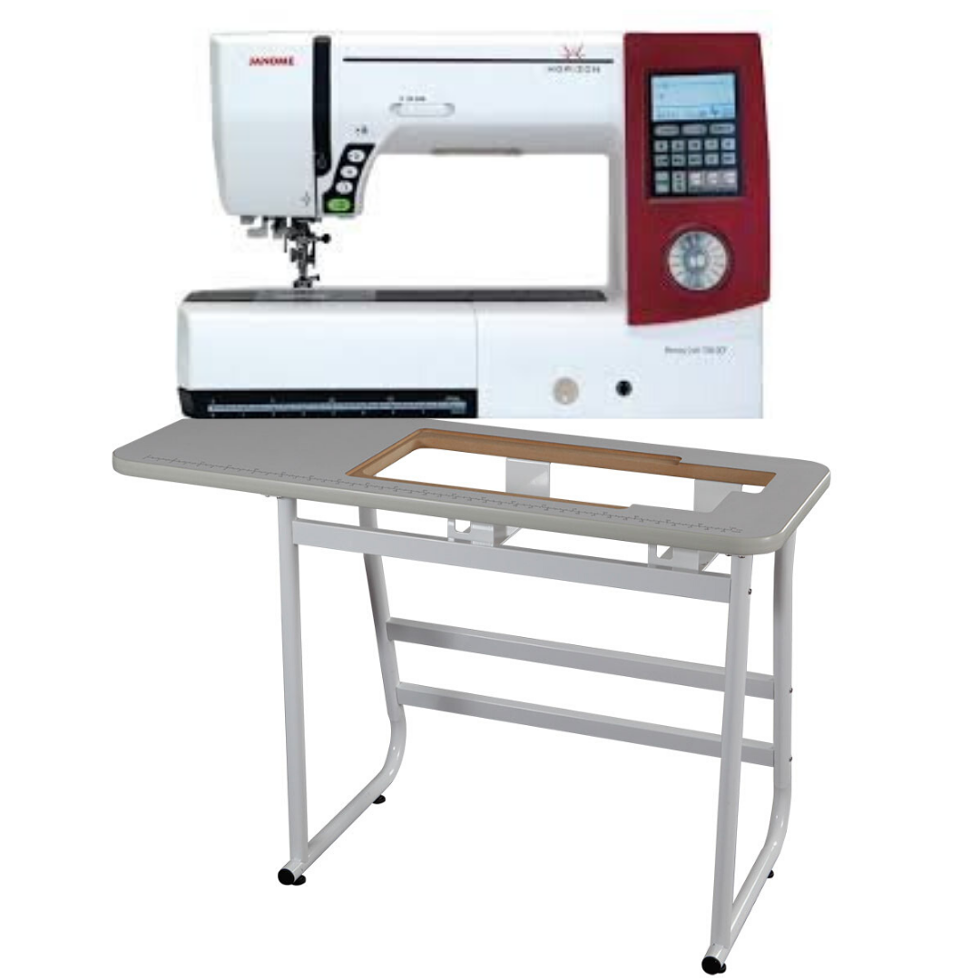 PRE-OWNED Janome Memory Craft Horizon 7700 QCP with Janome Industrial Table