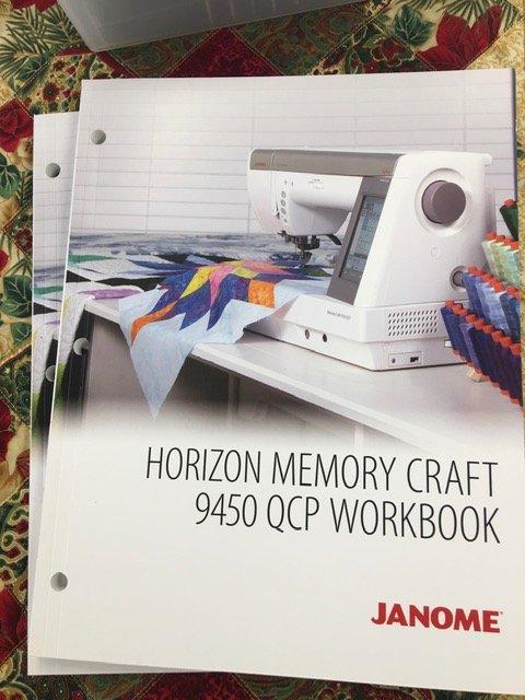 Janome Horizon Memory Craft 9450 QCP WORKBOOK