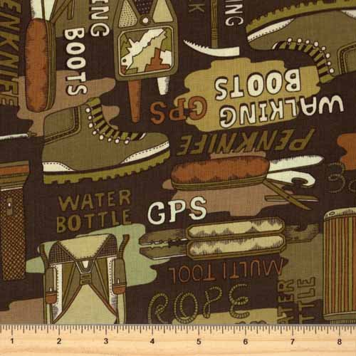 Kanvas Trail Mix Camping Fabric 05755-45