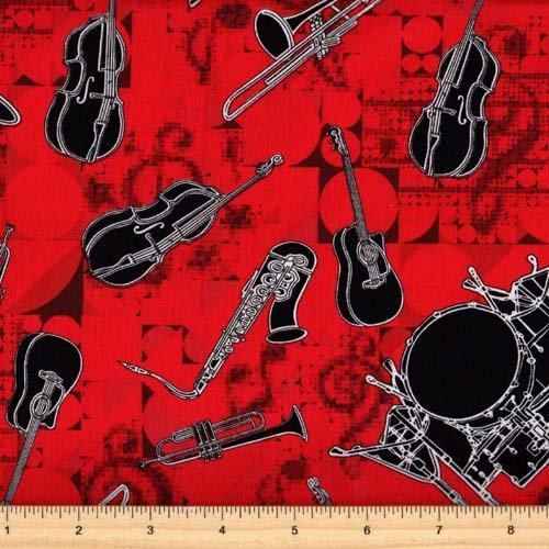 Kanvas 08141 10 That's Jazz Music Fabric