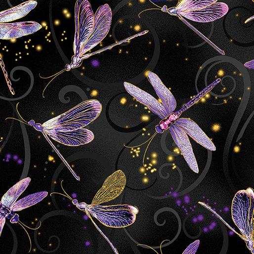 Dragonfly Dance - Kanvas Studio | Dancing Dragonflies Black 8498M-66