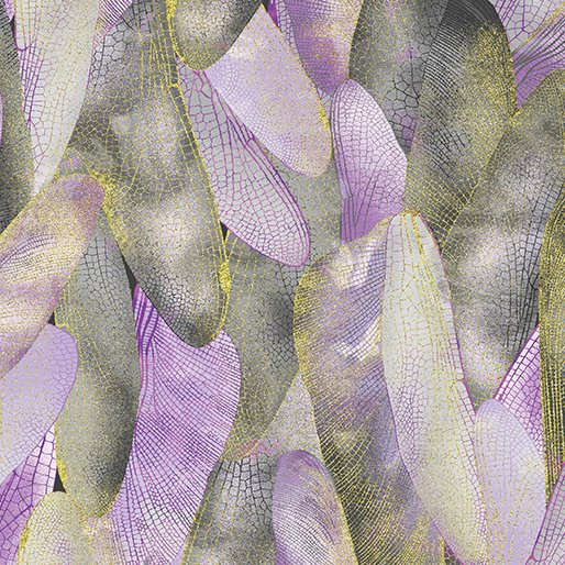 Dragonfly Dance - Kanvas Studio | Gilded Wings Lavender/Gray 8501M-61
