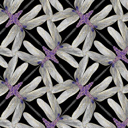 Dragonfly Dance - Kanvas Studio | Pinwheel Geo Black/Gray 8502M-99
