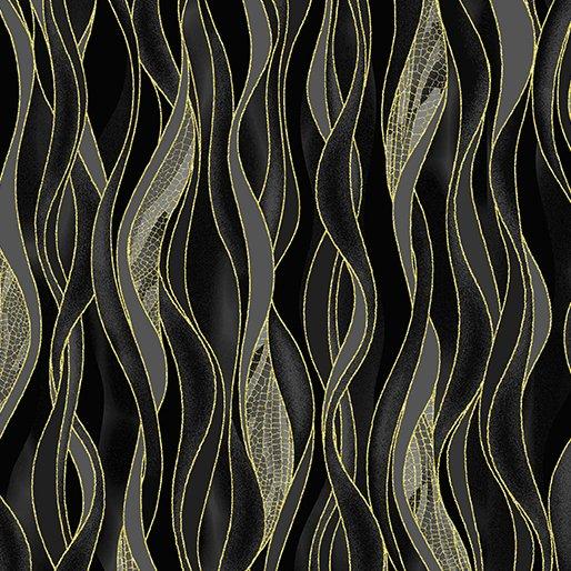 Dragonfly Dance - Kanvas Studio | Dancing Waves Black/Gray 8503M-99