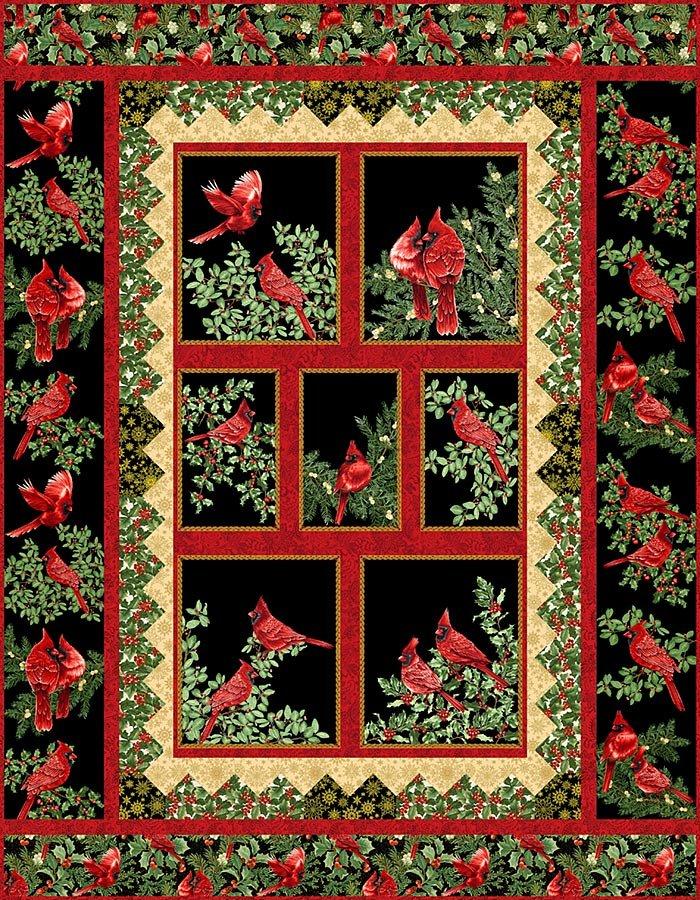 Quilt Kit:  Festive Cardinals