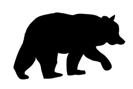Applique-Black Bear  - Pre-Fused Laser Shape approximately 6 1/2 long