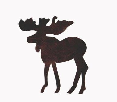 Moose Applique - Brown - Pre-Fused Laser Shape approximately 6 long