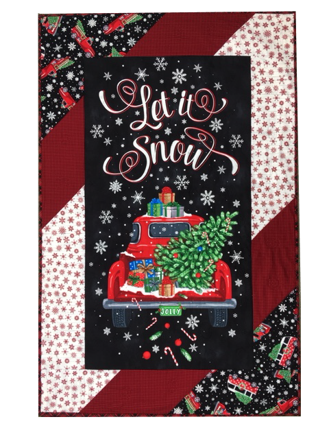 Quilt Kit: Let It Snow!  35x54  Includes Pattern + Fabrics