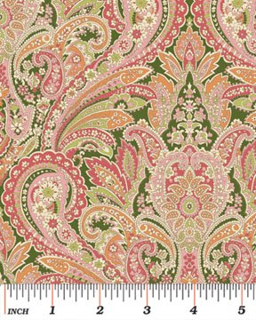 Benartex - Arabella 4183-24 PAISLEY ROSE/GREEN