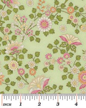 Benartex - Arabella 4185-04 ORNAMENTAL FLORAL GREEN