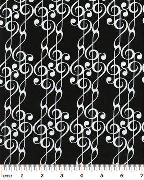 Benartex - Concerto 06242-02 G-CLEF MUSIC BLACK/WHITE