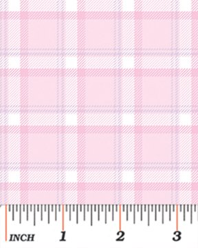 Benartex - Bunny Hop 8079-01 SOFT PLAID COTTON CANDY