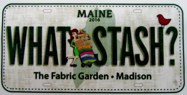 2016 Fabric License Plate  - WHAT STASH? (discounted shipping) ON SALE!