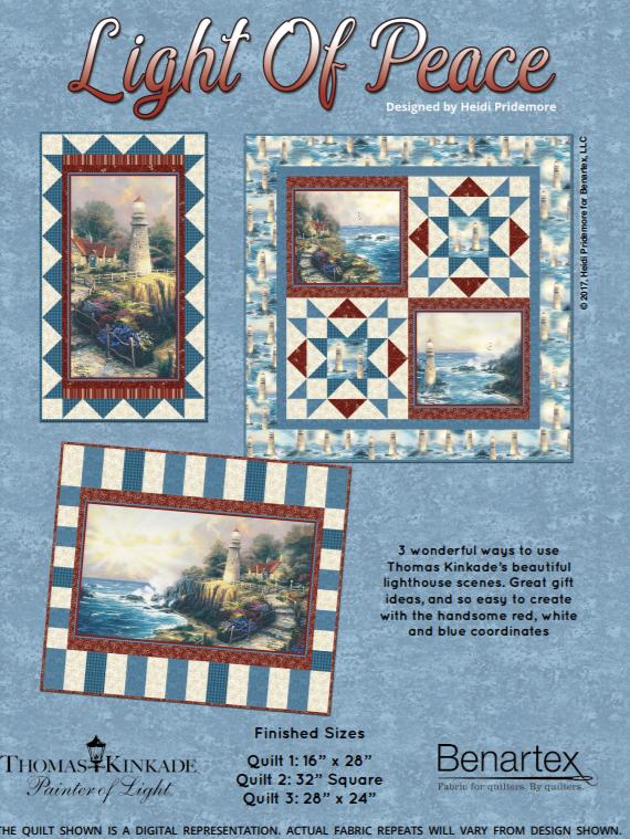 Free Pattern:  Light of Peace- by Heidi Pridemore for Thomas Kinkade / Benartex Fabrics