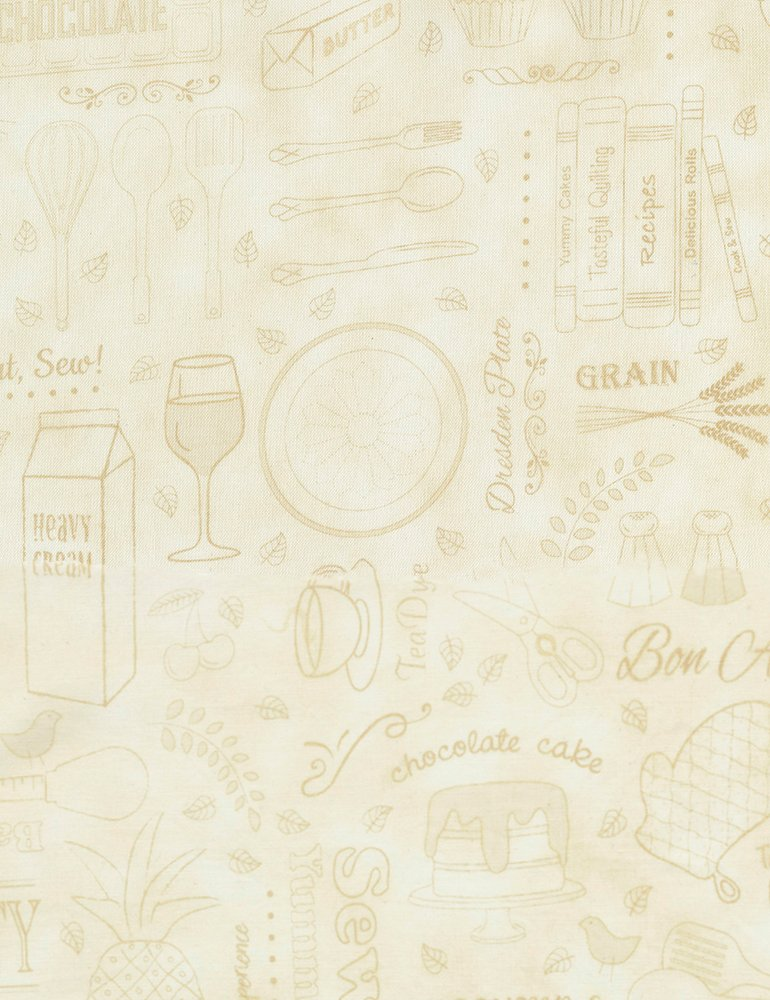 Row by Row - Taste the Experience 2019 - Cooking Words and Things Row-C6794-Linen