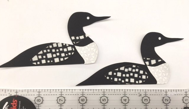 Loon Applique - Set of 2 Pre-Fused Laser Shapes
