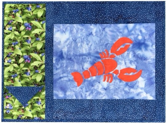 Lobster Placemat Kit - Makes 2 placemats.  Includes laser-cut Lobsters
