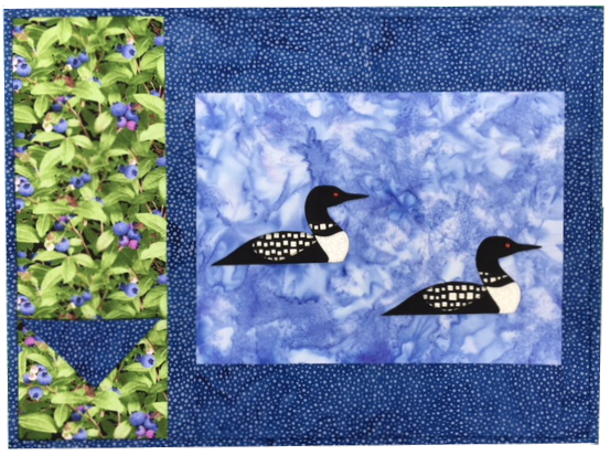 Loon Placemat Kit - Makes 2 placemats.  Includes laser-cut Loons