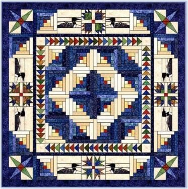 Loon Lodge Quilt Kit | Queen - 90 x 90
