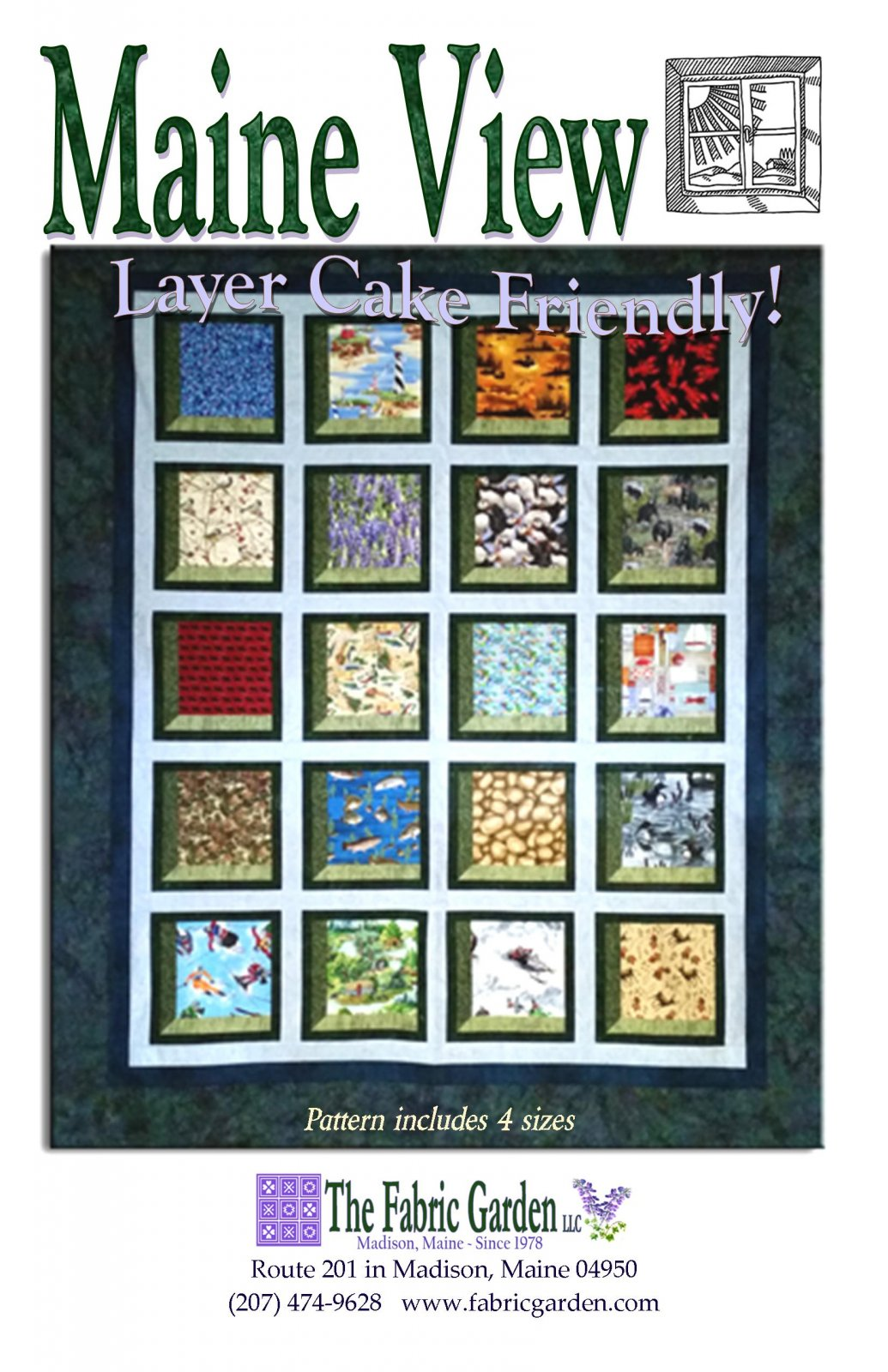 The Fabric Garden - Maine View Quilt Pattern