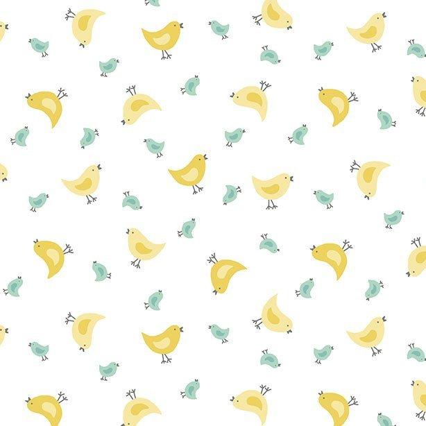 Counting Sheep fabric by Makower Fabrics: TP 2019 W Chicks