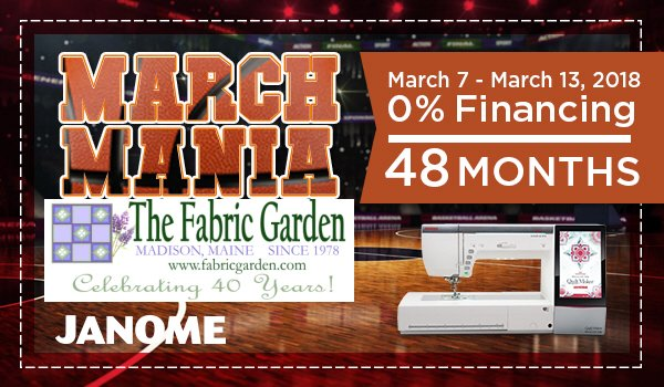 March Madness Janome Financing
