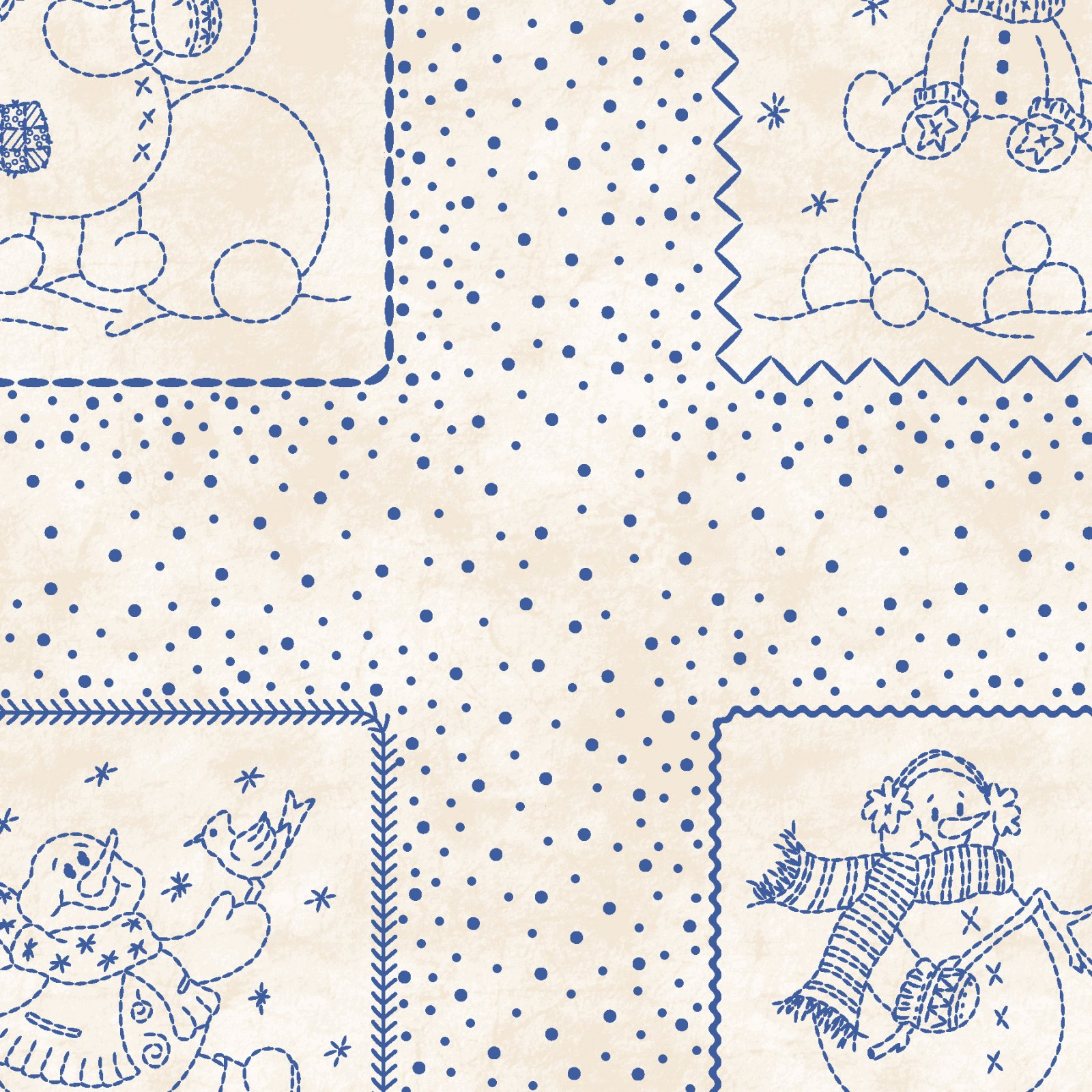 Maywood Studio - Roly Poly Snowmen - 84111-E Roly Poly Patches 15 PANEL