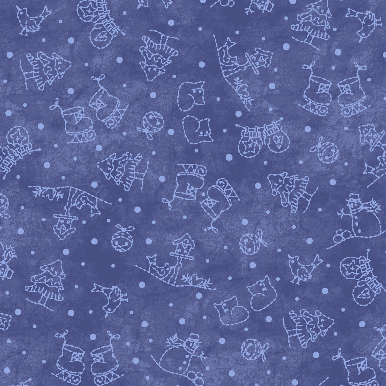 Maywood Studio - Roly Poly Snowmen - 8415-N  Mini Motifs Blue