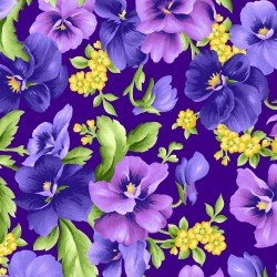 Maywood Studios | Emma's Garden - Packed Pansy Dark Purple 9170-V