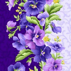 Maywood Studios | Emma's Garden Pansy Stripe Purple 9171-V