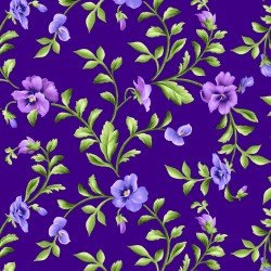 Maywood Studios | Emma's Garden - Trailing Pansy in Dark Purple - 9173-V