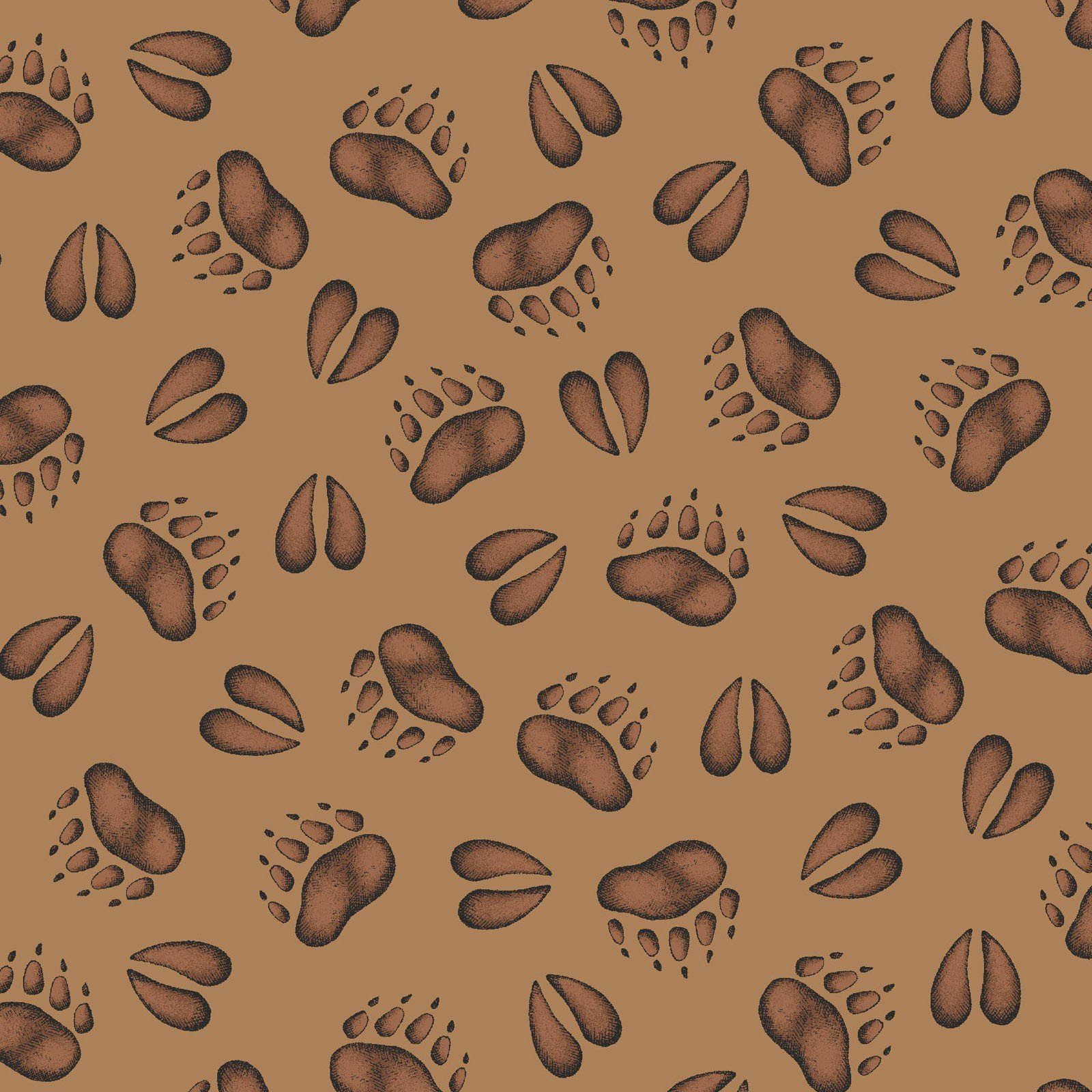 Maywood - Cozy Cabin by Kris Lammers - Animal Tracks Brown 9354-A
