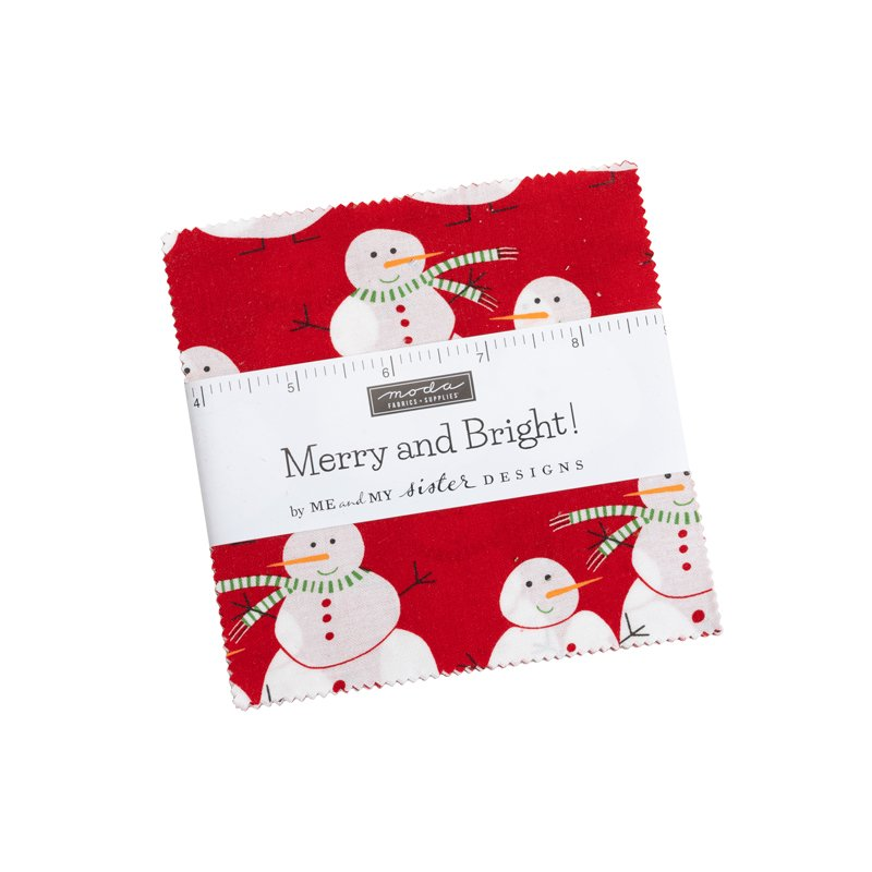 Moda Merry and Bright Charm Pack 22400PP by Me and My Sister Designs